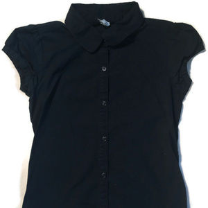 """Old Navy """"Stretch"""" Navy Button Down Top.M(8)"""